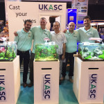 Turkish Aquascaper, Mustafa Erdogar also scaped on the J&K stand at Aqua. L-R Manuel Arias, Stephen Rhodes, Mustafa Erdogar, Alastair Treymaine