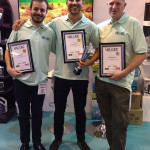 The scapers L-R Manuel, Antoni and Stephen after they received their Round one certificates.